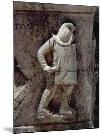 Relief Depicting Gladiator, Along Marble Road--Mounted Giclee Print