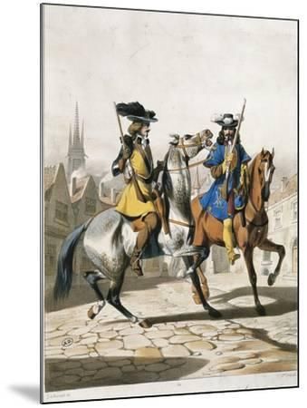 Military Police Uniforms, Military Police Command Guard Corps--Mounted Giclee Print
