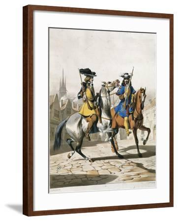 Military Police Uniforms, Military Police Command Guard Corps--Framed Giclee Print