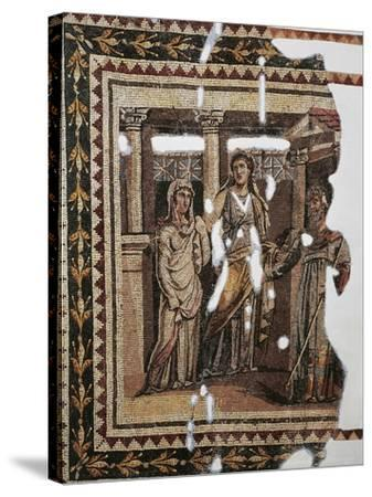 Mosaic Portraying Iphigenia at Aulis, from Antioch, Turkey--Stretched Canvas Print