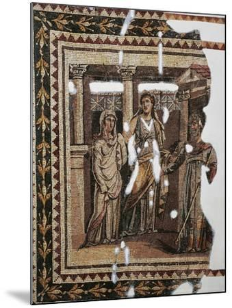 Mosaic Portraying Iphigenia at Aulis, from Antioch, Turkey--Mounted Giclee Print