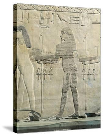 Relief Depicting Water Divinity, from the Funerary Temple of Sahure at Abusir--Stretched Canvas Print