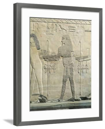 Relief Depicting Water Divinity, from the Funerary Temple of Sahure at Abusir--Framed Giclee Print