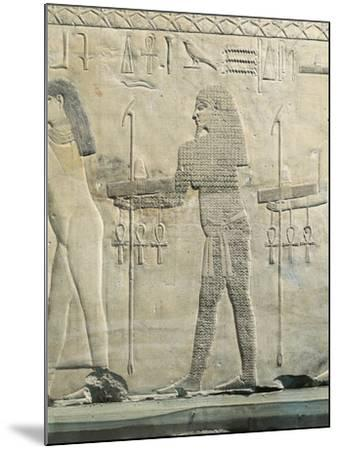 Relief Depicting Water Divinity, from the Funerary Temple of Sahure at Abusir--Mounted Giclee Print