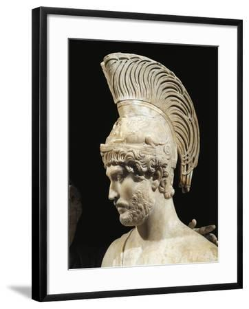 Marble Group Statue of Hadrian and Sabina Portrayed as Mars and Venus, Detail of Hadrian as Mars--Framed Giclee Print