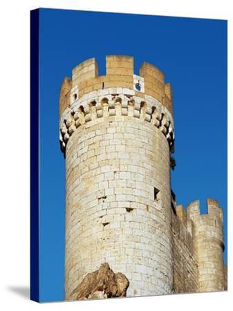 Spain, Afiel, Castle, Tower--Stretched Canvas Print