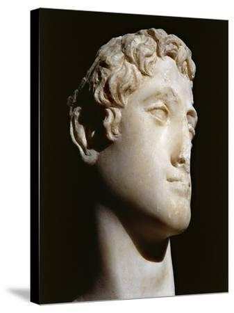 Marble Head of Ptolemy Vi B.C. 176-145 B.C.--Stretched Canvas Print