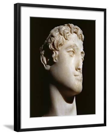 Marble Head of Ptolemy Vi B.C. 176-145 B.C.--Framed Giclee Print