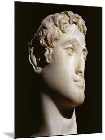 Marble Head of Ptolemy Vi B.C. 176-145 B.C.--Mounted Giclee Print