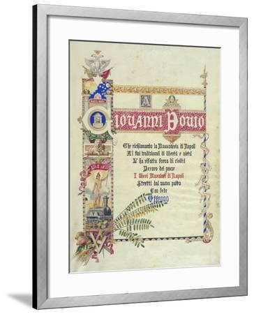 Album Donated by Neapolitan Masonic Lodges to Giovanni Bovio, Cover, Italy--Framed Giclee Print