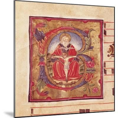 The Holy Trinity, Miniature by Reginaldo Piramo from Choral, Latin Manuscript 16th Century--Mounted Giclee Print