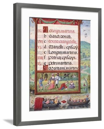 Month of May, Miniature, 16th Century--Framed Giclee Print