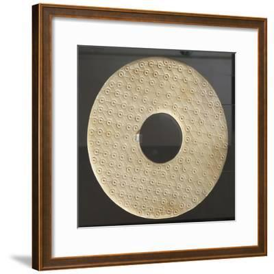 Bi-Type Disc, Symbol of Heaven, China, Qin Dynasty, 3rd Century BC--Framed Giclee Print