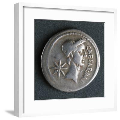 Silver Denarius of Julius Caesar at Time of First Triumvirate, Recto, Roman Coins BC--Framed Giclee Print