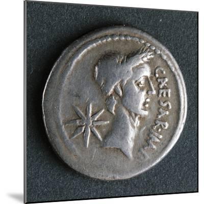 Silver Denarius of Julius Caesar at Time of First Triumvirate, Recto, Roman Coins BC--Mounted Giclee Print