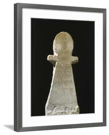 Tunisia, Carthage, Tophet, Votive Stele with an Inscription to Goddess Tanit--Framed Giclee Print