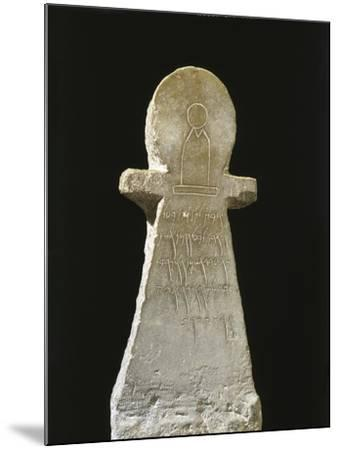 Tunisia, Carthage, Tophet, Votive Stele with an Inscription to Goddess Tanit--Mounted Giclee Print