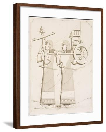Relief Depicting Carriage Bearers, from Monuments of Nineveh by Paul-Emile Botta, 1849--Framed Giclee Print