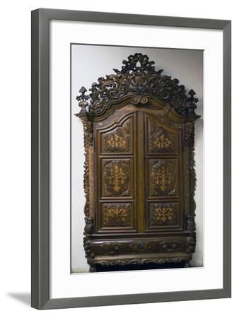 Carved Walnut Wardrobe, 1783, Girona Cabinetry School, Spain--Framed Giclee Print