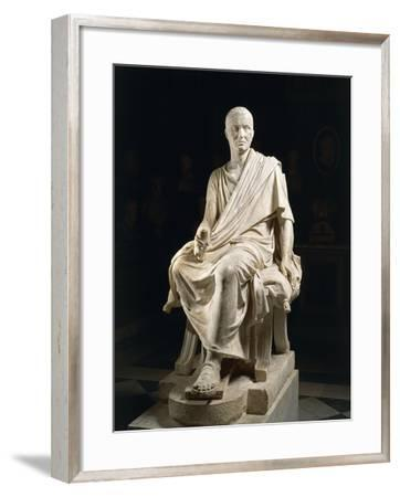 Marble Statue of Seated Claudio Marcellio--Framed Giclee Print