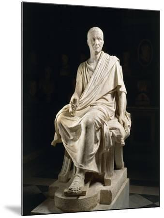 Marble Statue of Seated Claudio Marcellio--Mounted Giclee Print