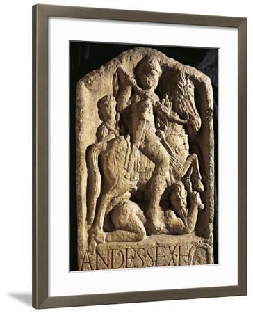 Stele of Andes, Depicting Man on Horseback--Framed Giclee Print