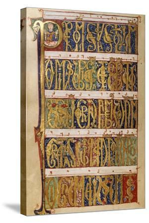 Miniature from a Missal, 12th Century--Stretched Canvas Print