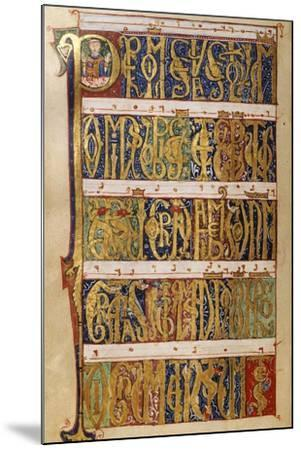 Miniature from a Missal, 12th Century--Mounted Giclee Print