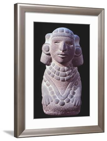 Statuette Originating from Mexico Depicting a Goddess.--Framed Giclee Print