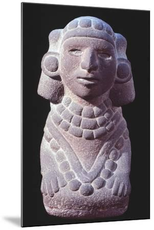 Statuette Originating from Mexico Depicting a Goddess.--Mounted Giclee Print