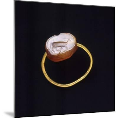 Engraved Agate and Gold Ring. Etruscan Civilization--Mounted Giclee Print