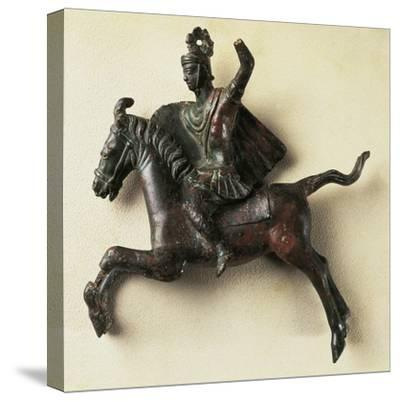 Bronze Horseman Statue, from Orange, France--Stretched Canvas Print