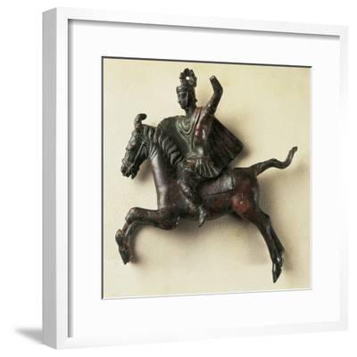 Bronze Horseman Statue, from Orange, France--Framed Giclee Print