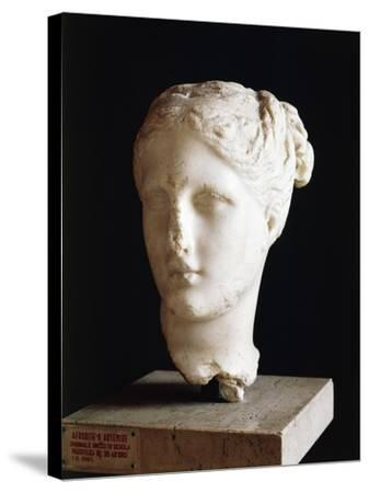 Head of Aphrodite, 325 BC Sculpture from School of Praxiteles from Apulia, Italy BC--Stretched Canvas Print