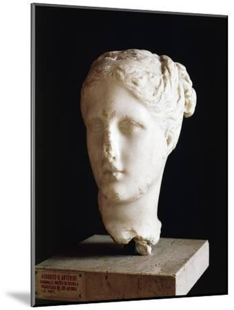 Head of Aphrodite, 325 BC Sculpture from School of Praxiteles from Apulia, Italy BC--Mounted Giclee Print