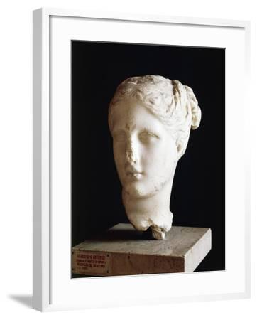 Head of Aphrodite, 325 BC Sculpture from School of Praxiteles from Apulia, Italy BC--Framed Giclee Print