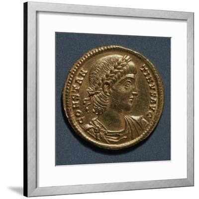Gold Solidus of Constantine Great Bearing Image of Emperor, Recto, Roman Coins, 3rd-4th Century AD--Framed Giclee Print