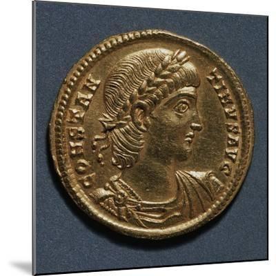 Gold Solidus of Constantine Great Bearing Image of Emperor, Recto, Roman Coins, 3rd-4th Century AD--Mounted Giclee Print