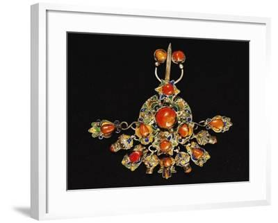 Breastplate in Silver, Enamel and Mediterranean Coral--Framed Giclee Print