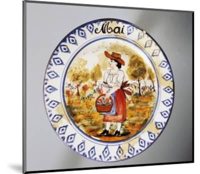 Plate Depicting Months, May, Earthenware--Mounted Giclee Print