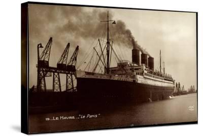 Le Havre, French Line Cgt, Le Paris, Vapeur, Dampfer--Stretched Canvas Print