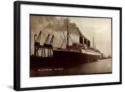 Le Havre, French Line Cgt, Le Paris, Vapeur, Dampfer--Framed Giclee Print