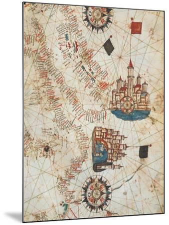 Genoa and Venice, from the Nautical Atlas by Joan Martines, 1571--Mounted Giclee Print