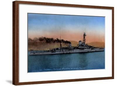 Französisches Kriegsschiff Courbet, Cuirassé--Framed Giclee Print