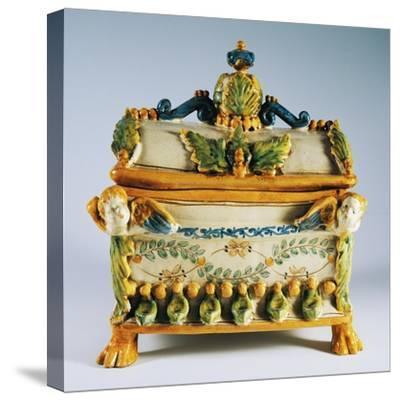 Casket with Renaissance Style Decorations--Stretched Canvas Print