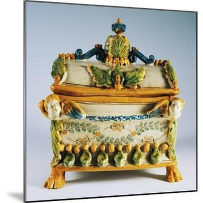 Casket with Renaissance Style Decorations--Mounted Giclee Print