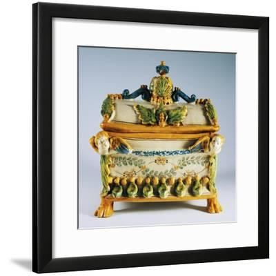 Casket with Renaissance Style Decorations--Framed Giclee Print
