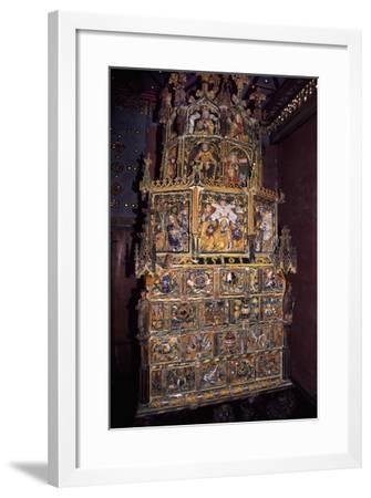 Tiled Stove in Golden Hall, Hohensalzburg Castle, Salzburg, Austria--Framed Giclee Print