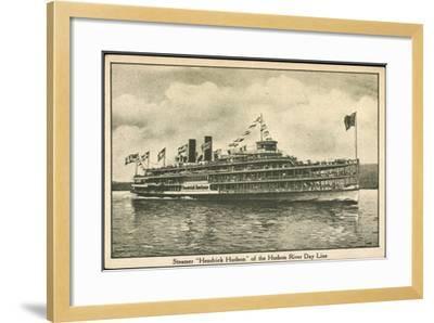 Dampfer Hendrick Huson, Hudson River Day Line--Framed Giclee Print