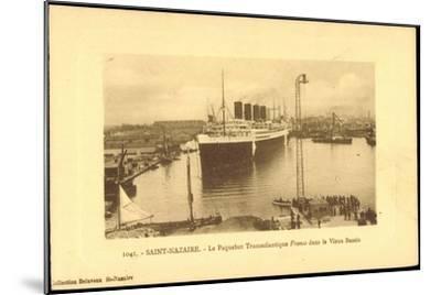 Saint Nazaire, Dampfer France, Hafen, CGT--Mounted Giclee Print